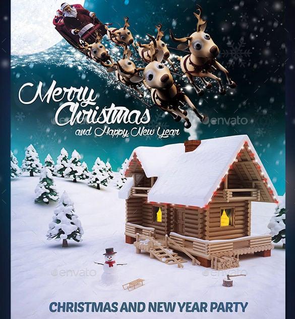 60 Christmas Flyer Templates Free PSD AI Illustrator