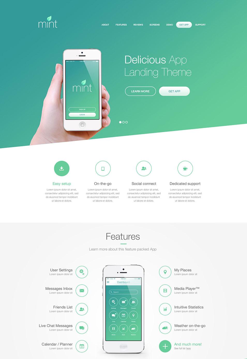 15 Best PSD App Templates Free App Template PSD Free Premium Templates