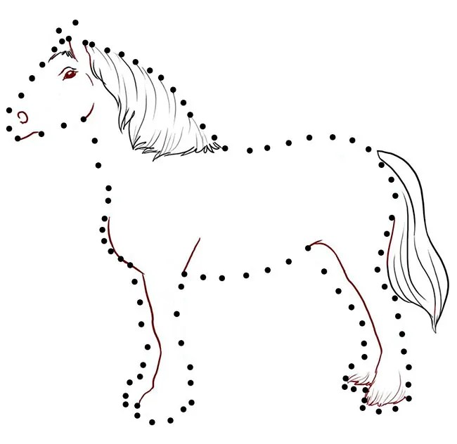 Cutting Horse Coloring Page
