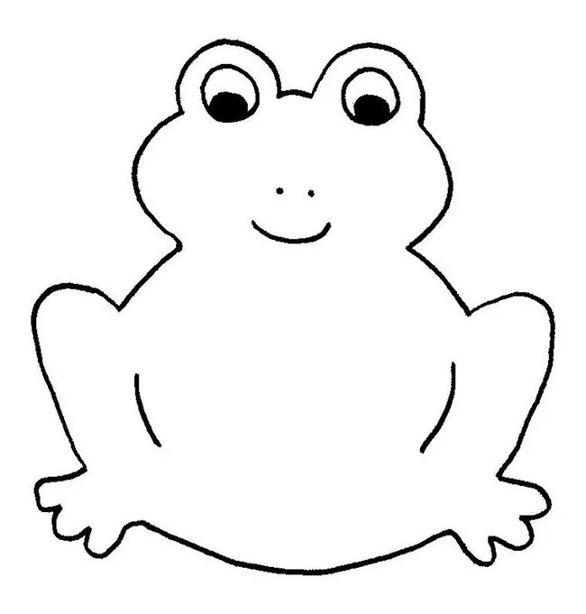 Green Tree Frog Coloring Pages