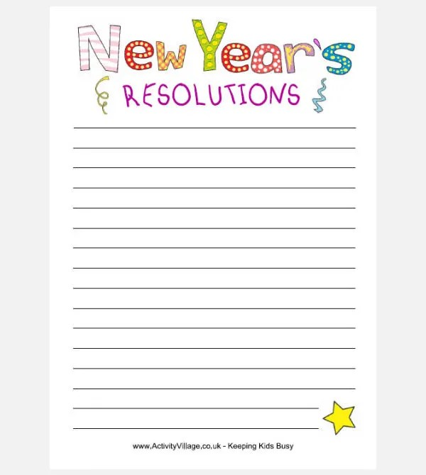 30 best new year resolution templates amp design ideas for 2015 free