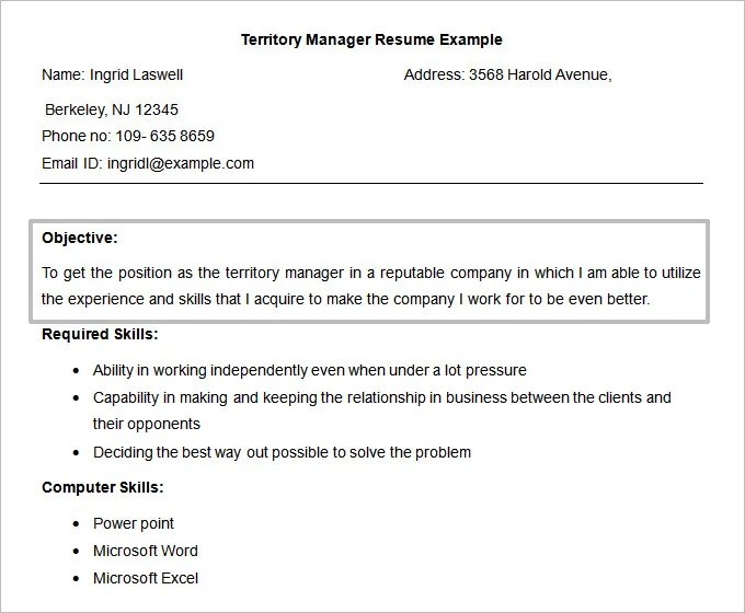 resume objectives 46 free sample example format download