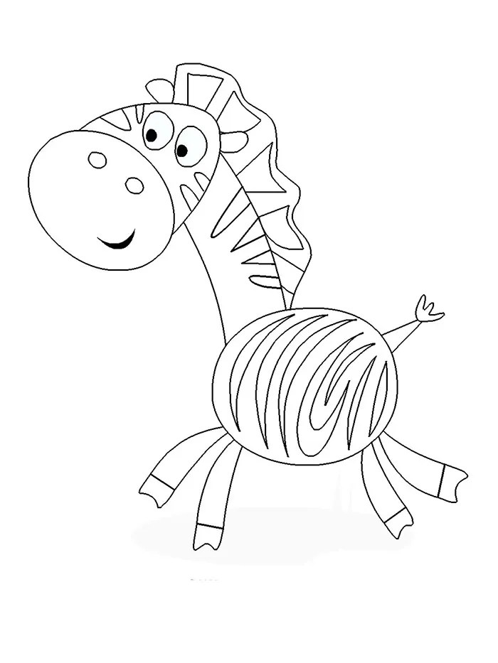baby zebra coloring pages for kids images amp pictures becuo