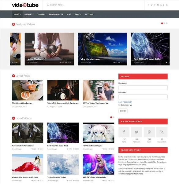 11 Youtube Wordpress Themes Templates Free Premium