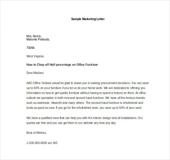 Marketing Letter Template 38 Free Word Excel PDF Documents Download Free Amp Premium Templates