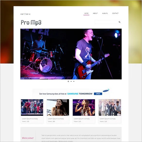 29 Music HTML5 Themes Templates Free Premium Templates