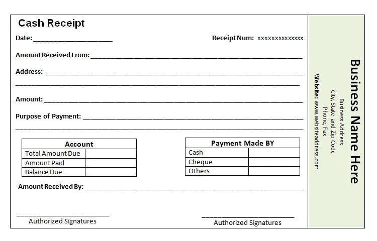 Receipt Book Template how to design a cash receipt receipt – Receipt Book Format