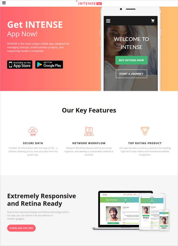 30 Html5 Landing Page Themes Templates Free Premium