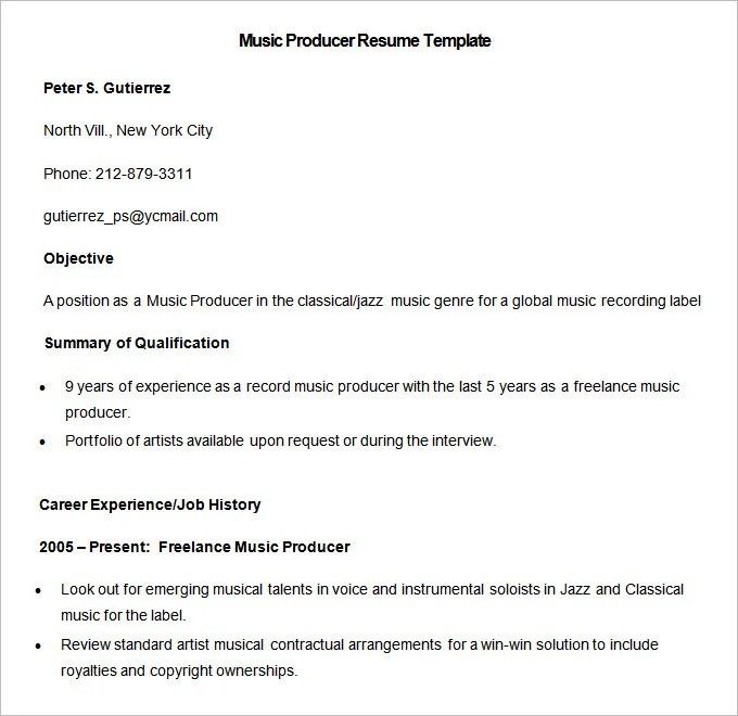 resume template actor word sample musical resume template acting fax