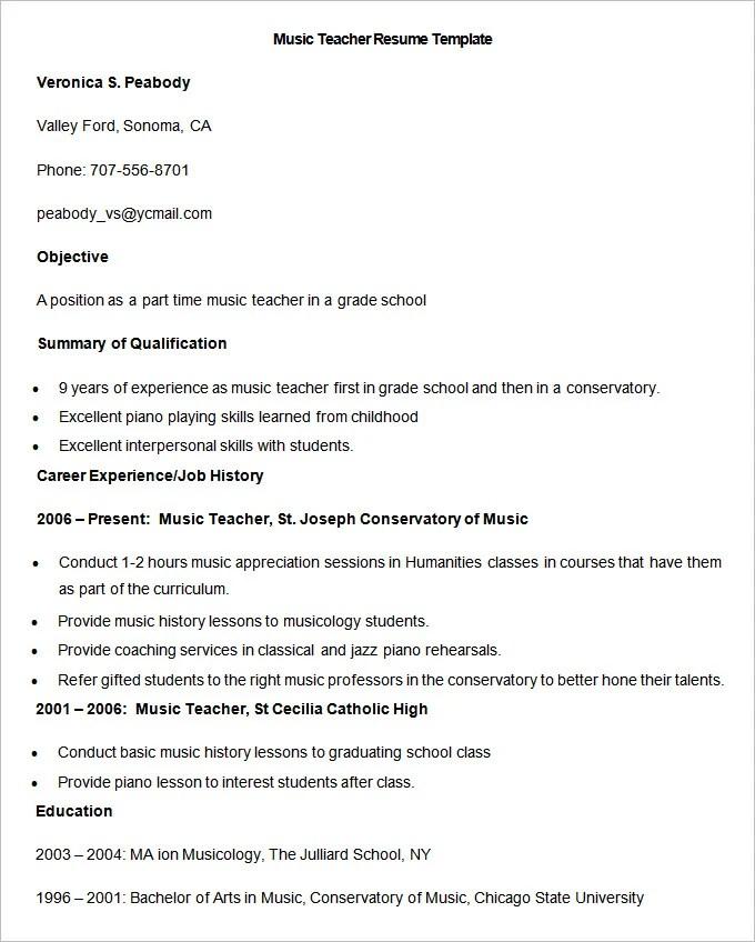 resume format for school teacher job in india computer teacher resume