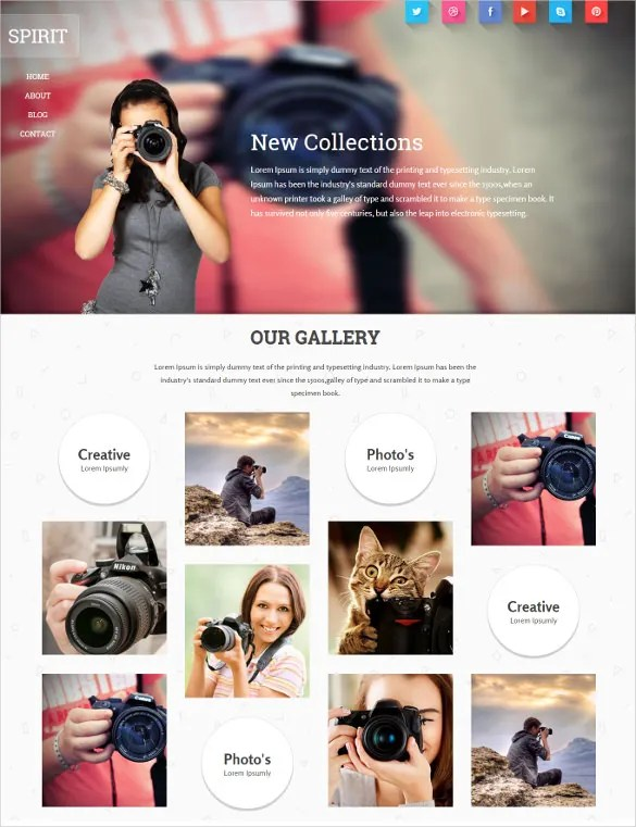 Wedding Portfolio Website Template Deweddingjpgcom - Photography portfolio website templates free