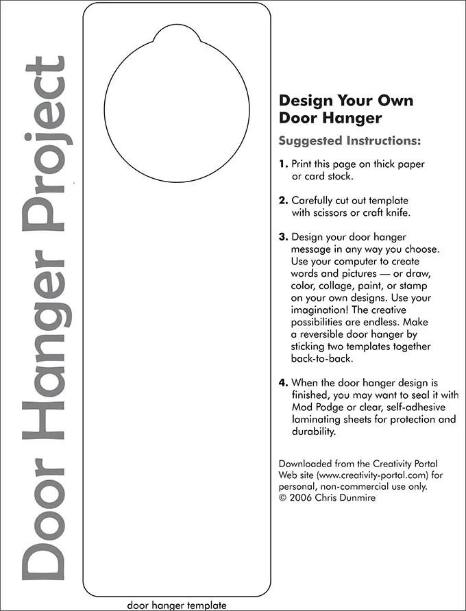 Door Hanger Template Free Premium Templates