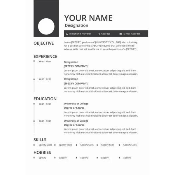 50 Best Resume Templates To Download Free Premium Templates