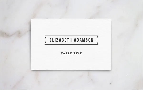 Name Place Card Template