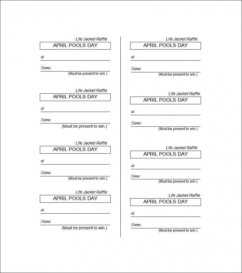 19 Sample Printable Raffle Ticket Templates Psd Ai Word