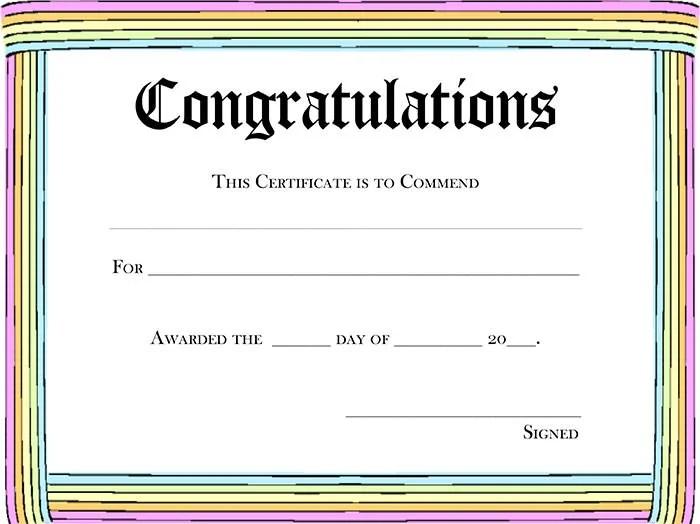 Free Certificate Templates award certificate templates free – Free Printable Certificate of Recognition