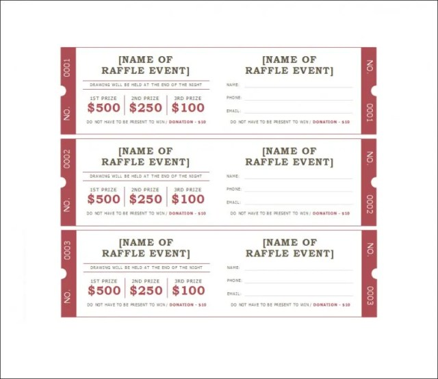 This is a graphic of Insane Printable Raffle Tickets With Stubs