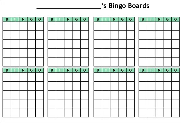 Blank Bingo Template 15 Free PSD Word PDF Vector EPS Format Download Free Amp Premium