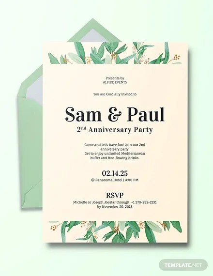 28 Anniversary Invitation Templates Psd Ai Word Free