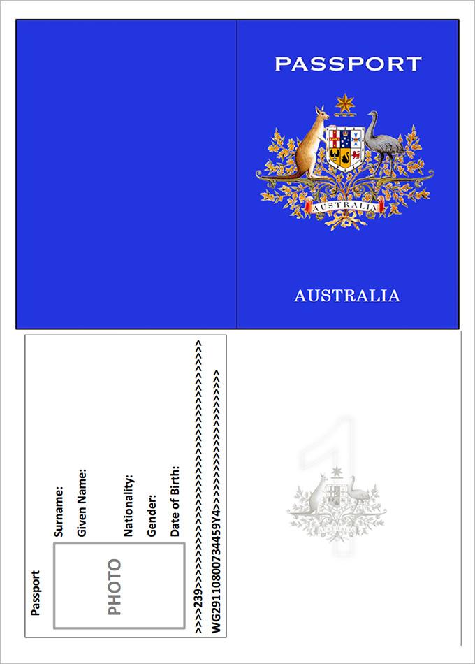 Australia Pport Template