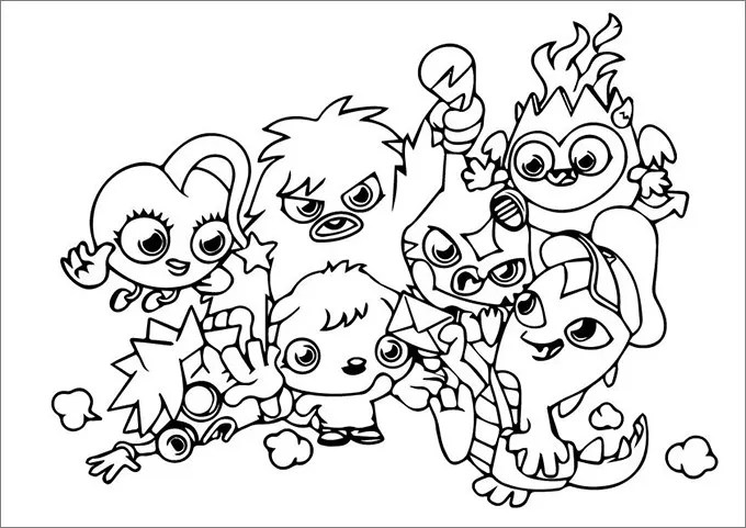 baby moshi monsters coloring pages moshi monsters coloring pages free coloring pages free amp premium