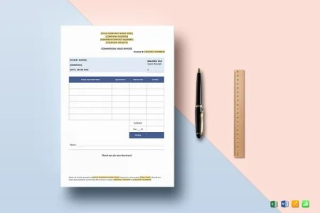 16  Sales Invoice Template   Free Word Excel PDF Download   Free     Commercial Sales Invoice Template
