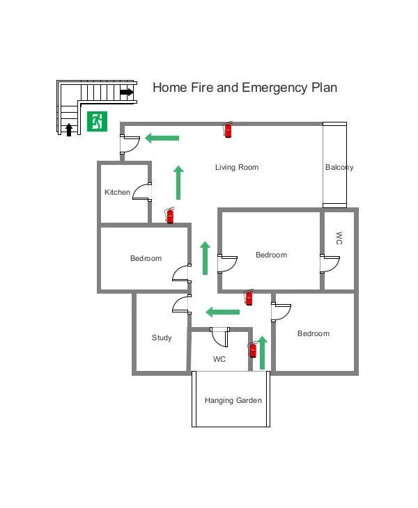 7 Home Evacuation Plan Templates MS Word PDF Free Premium Templates