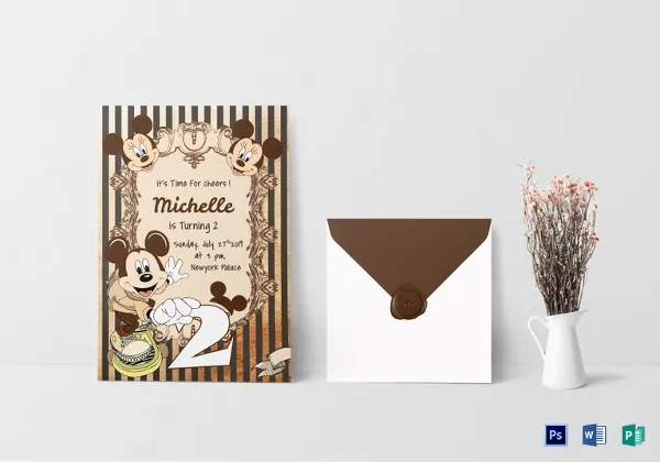 mickey mouse invitation templates 26
