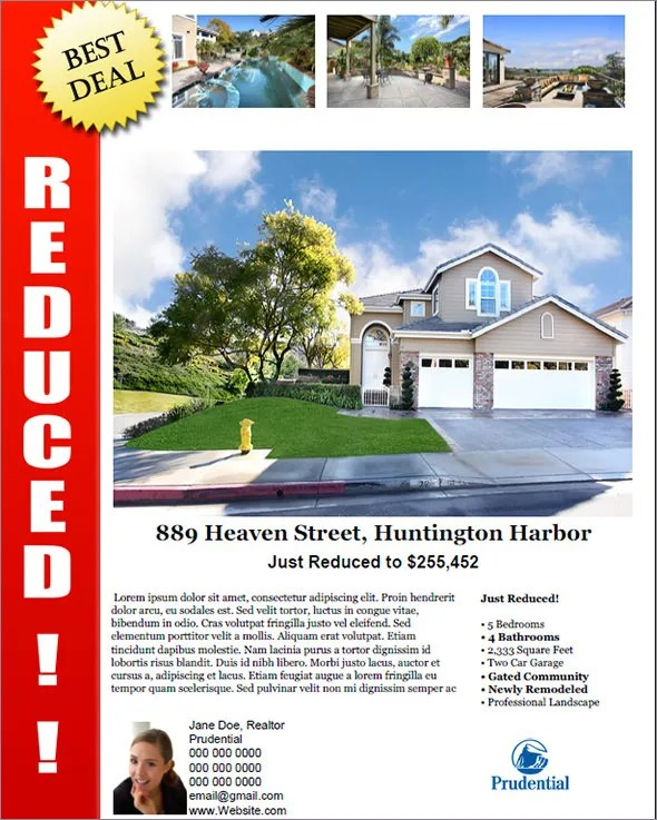 Open House Template. real estate flyer real estate flyer. open ...