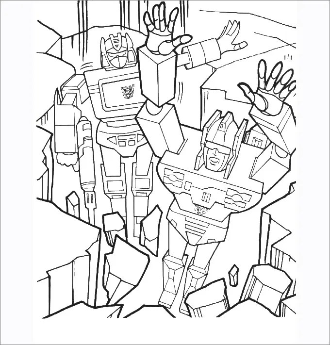 Transformer Optimus Prime Coloring Pages - Coloring Home | 711x680
