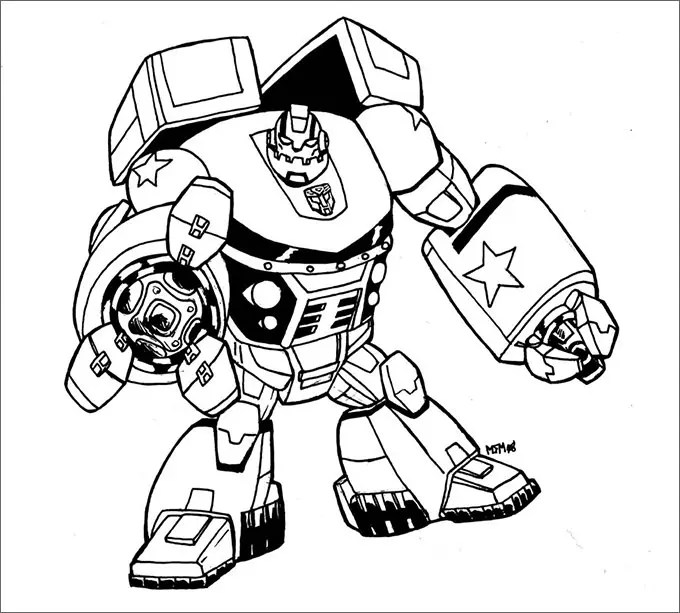 IronHide Transformers Coloring Pages for kids | Transformers ... | 613x680
