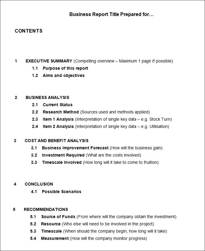 Doc694951 Business Analysis Report Example Doc694951 Business – Business Analysis Report Example