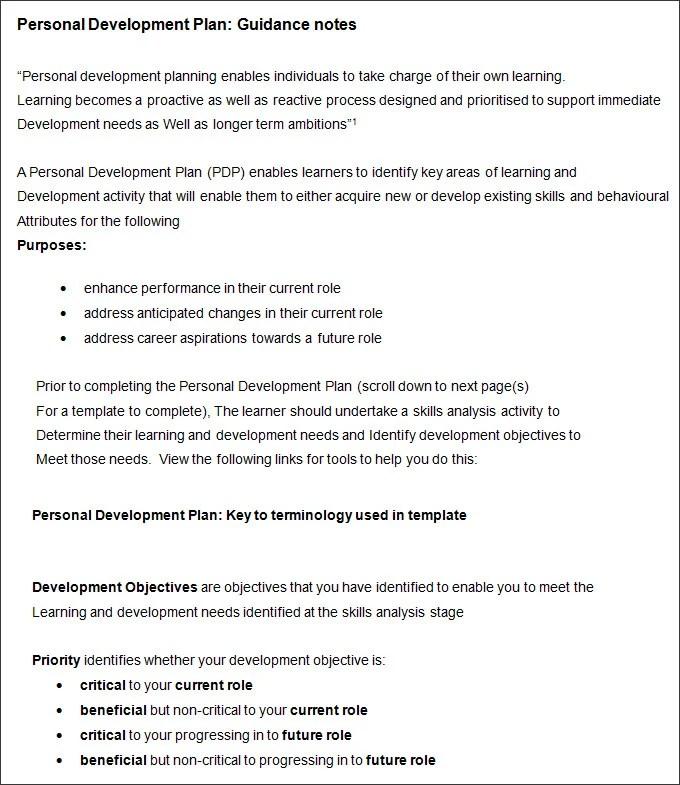 Template Development. Employee Development Plan Template Best