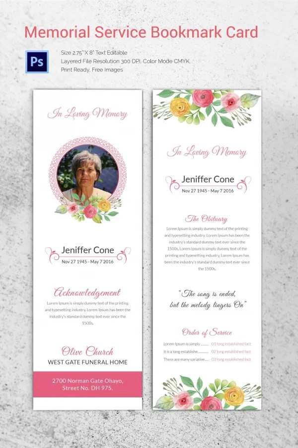 Funeral Invitation Templates web templates size in photoshop http – Funeral Invitation Templates