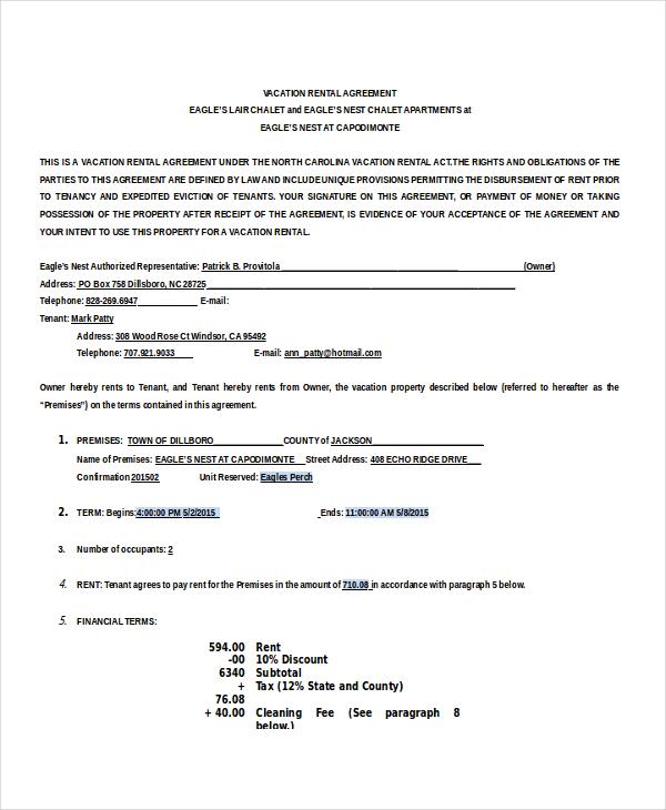 13 house rental agreement templates free sample example format – House Rental Agreements Templates