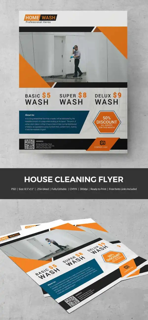 House Cleaning Flyer Template 23 PSD Format Download Free Premium Templates
