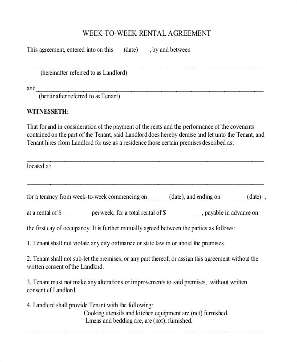 27 Simple Rental Agreement Templates Free Word Pdf