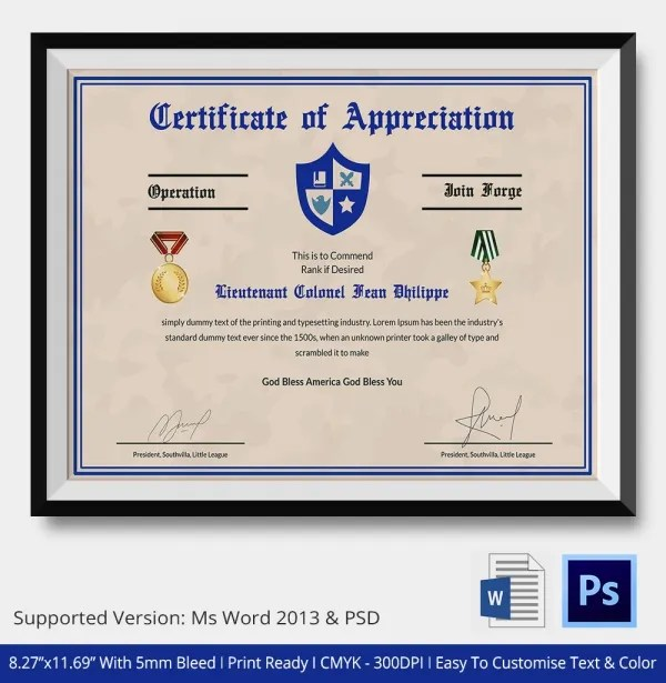 Army Award Template soldiers icons and vintage on pinterest – Army Certificate of Appreciation Template