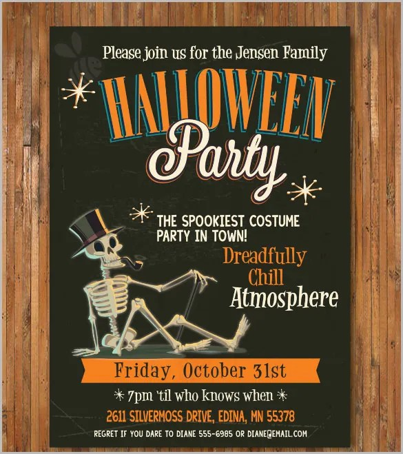 35 halloween invitation free psd