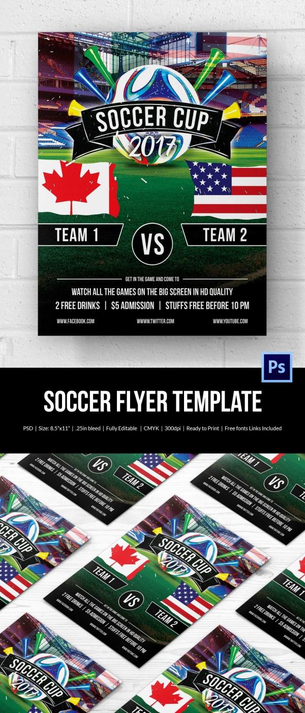 43 Soccer Flyer Templates PSD Word EPS Vector AI Free Amp Premium Templates