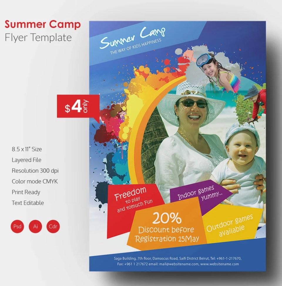 Summer Camp Flyer Template kids summer camp flyer design by – Summer Camp Flyer Template