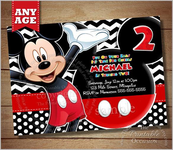 mickey mouse invitation templates 26