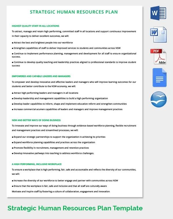 Resource Planning Template calendar 2016 hr strategy template 39 – Resource Planning Template
