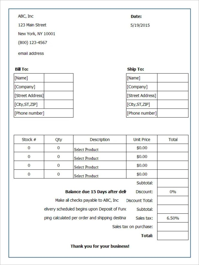 Embroidery Order Form Template Free Embroidery – Order Forms Templates Free Word