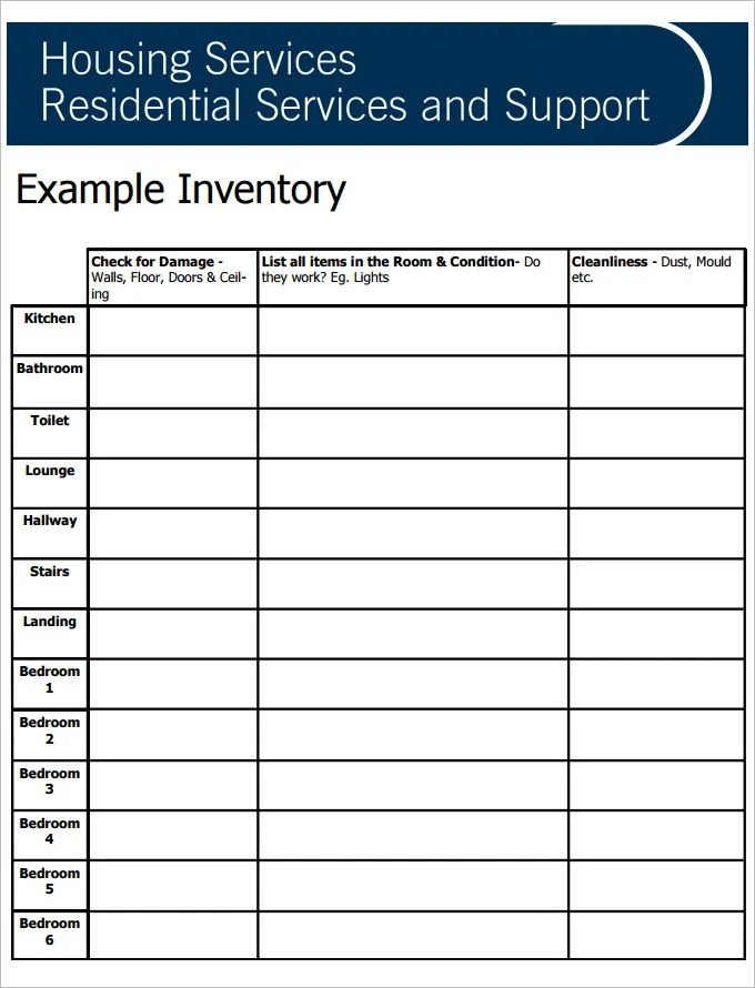 tenancy inventory template 7 download free documents in pdf – Tenancy Inventory Template