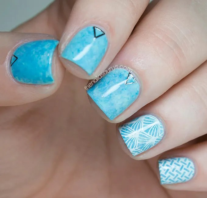 Blue Nail Design Picture