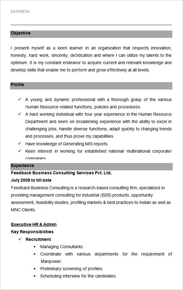 It Executive Resume Format. Best Resume Executive Summary The