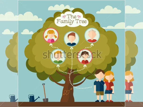18  Family Tree Template For Kids   DOC  Excel  PDF   Free   Premium     Flat Avatars Family Tree Template For Kids