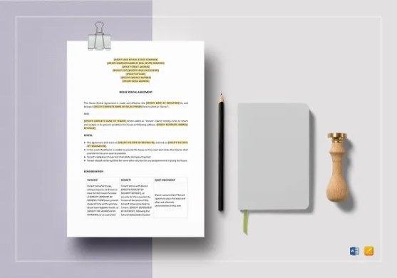18  House Rental Agreement Templates   DOC  PDF   Free   Premium     House Rental Agreement Template