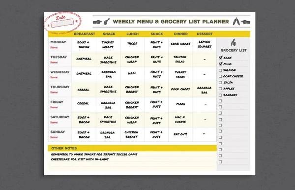 24 Menu Planner Template DOC PSD PDF EPS InDesign